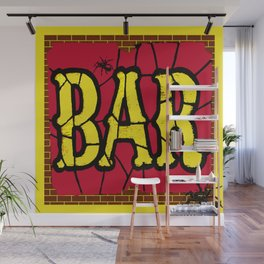 BAR AND SPIDERS VINTAGE SIGN Wall Mural