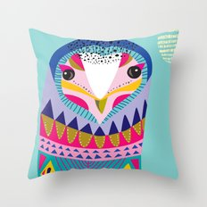Mr Owl Throw Pillow