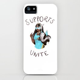 Supports unite! Symmetra iPhone Case