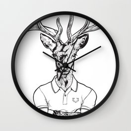 bambi's a grown up now  Black Wall Clock