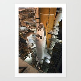 683. Space Shuttle Discovery Art Print