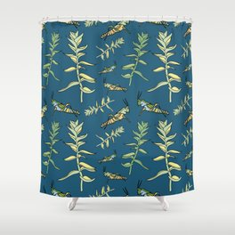 grasshopper Locust Shower Curtain
