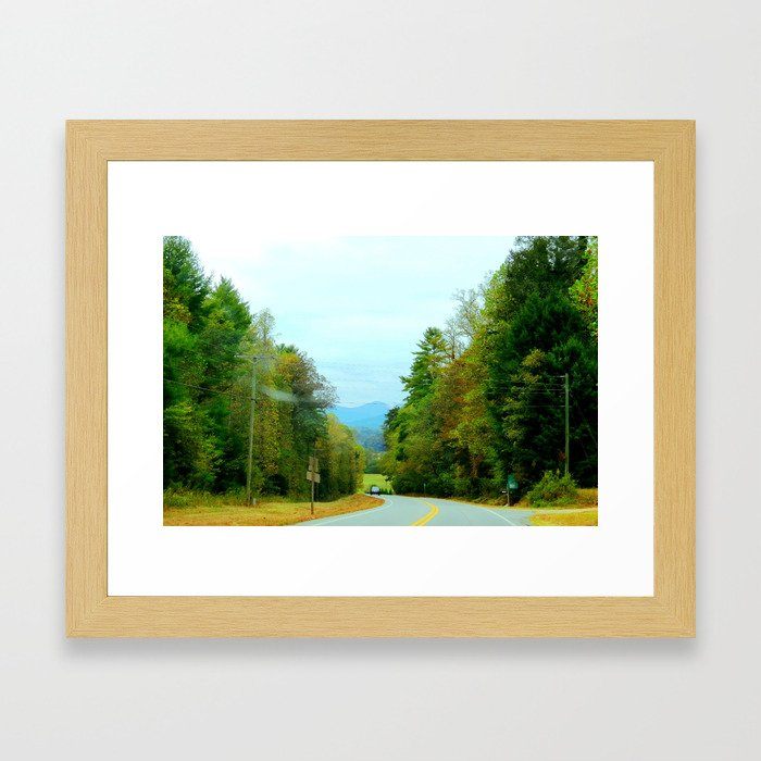 The Mountain Curves Framed Art Print