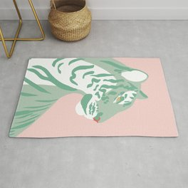 Tiger - Green and Pink Rug