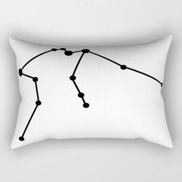 Aquarius (Black & White) Rectangular Pillow