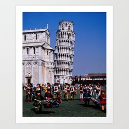 Pisa Flag Throwers Art Print