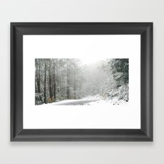 Down the Summit Framed Art Print