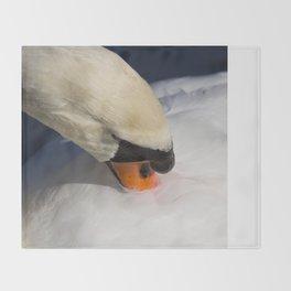 The Preening Swan Throw Blanket