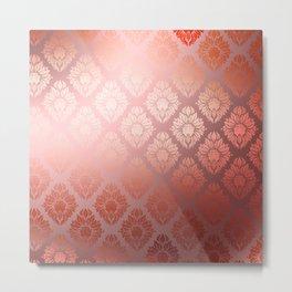 """""""Millennial Pink Damask Pattern"""" Metal Print"""