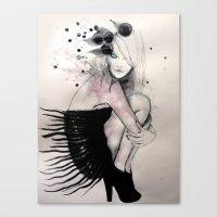 birdy Canvas Prints featuring Birdy by Sarah Bochaton