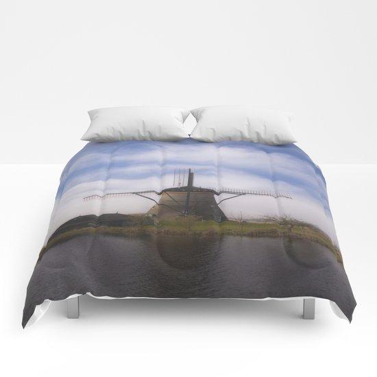 Kinderdijk Windmill III Comforters