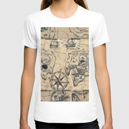 Old Nautical Map T-shirt