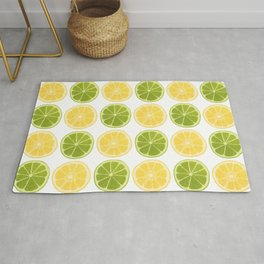 Lemon Lime Pattern Rug