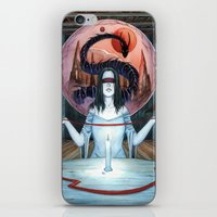 third eye iPhone & iPod Skins featuring Third Eye by Michael Brack
