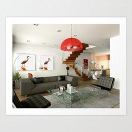 Home Decor Reddish Egret 4 and 5 Art Print