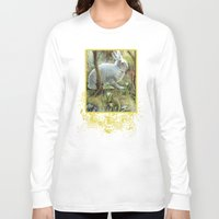 hare Long Sleeve T-shirts featuring Hare by Natalie Berman
