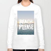 beach Long Sleeve T-shirts featuring Beach by Trend