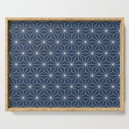 Geometric Stars pattern blue Serving Tray