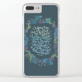 You Are My Hiding Place - Psalm 32:7 Clear iPhone Case