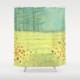 Meadow near Périgueux Shower Curtain