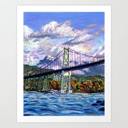 The Lions Gate, Vancouver Art Print