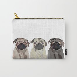 Triple Pugs Carry-All Pouch