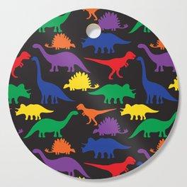 Dinosaurs - Black Cutting Board