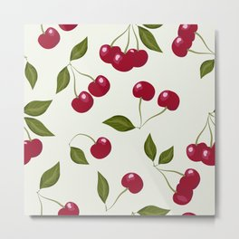 Cherry pattern . No. 1 Metal Print