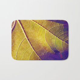 Leaf in Purple and Yellow Bath Mat