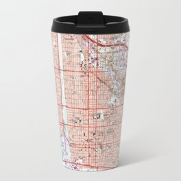 Vintage Map of Long Beach California (1964) Travel Mug