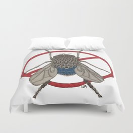 Blue Arse Fly Duvet Cover