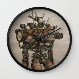Mech Bunny by Aleck Wall Clock
