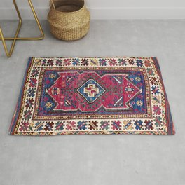 Karakecili Kütahya  Antique Turkish Tribal Carpet Print Rug