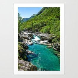 Valle Verzasca, Lavertezzo, Locarno, Canton of Ticino, Switzerland photograph Art Print
