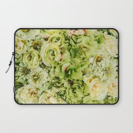 Green Flowers Laptop Sleeve