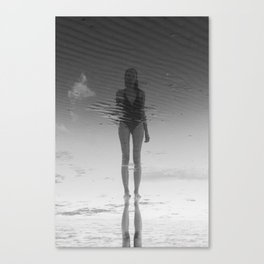 Reflection on the beach Canvas Print