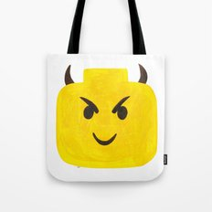 Emoji Minifigure Devil Tote Bag
