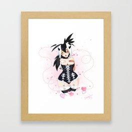 Mono Corset Framed Art Print
