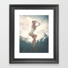 Marilyn Underwater Celebrity  Framed Art Print