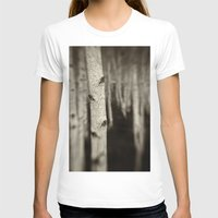 birch T-shirts featuring Silver Birch by David Turner