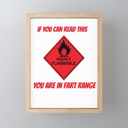 fart for people who like fart and flatulence jokes and mems  Framed Mini Art Print