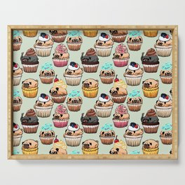 Cupcake Pugs Serving Tray