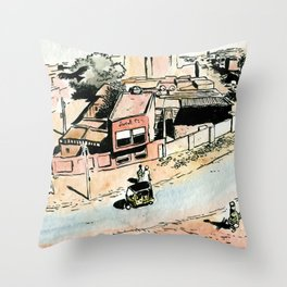 La rue - The street Throw Pillow