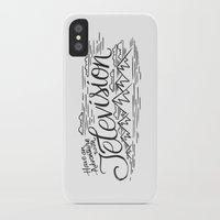 boob iPhone & iPod Cases featuring HAVE AN ADVENTURE WITH TELEVISION by Matthew Taylor Wilson