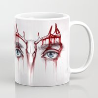 will graham Mugs featuring Will Graham This is my design by ribkaDory