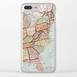 Vintage Map of The United States (1887) Clear iPhone Case