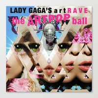 artrave Canvas Prints featuring artRave by Mohammed Bahatheg