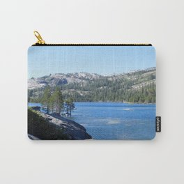 road trip, lake, water, mountains, trees, tree in lake, rocks  Carry-All Pouch