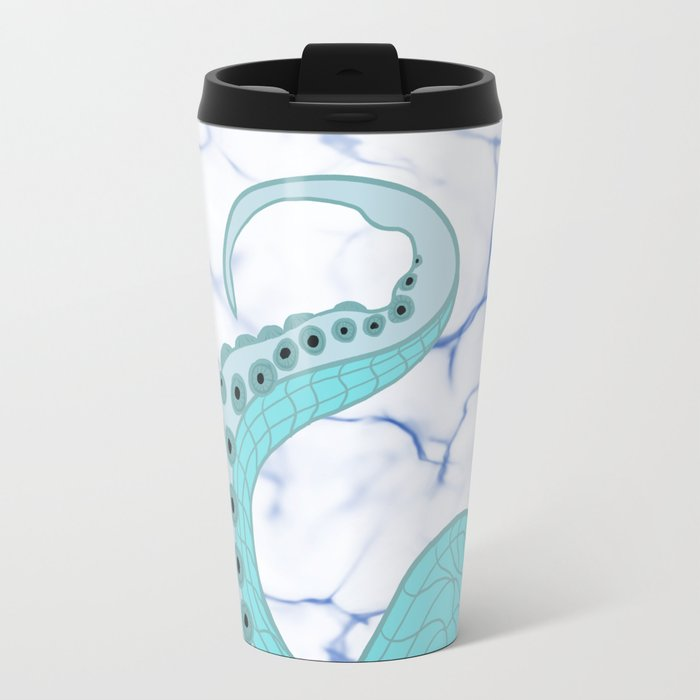 Wrapped In Tentacles Metal Travel Mug