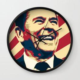 Ronald Reagan Retro Propaganda Wall Clock
